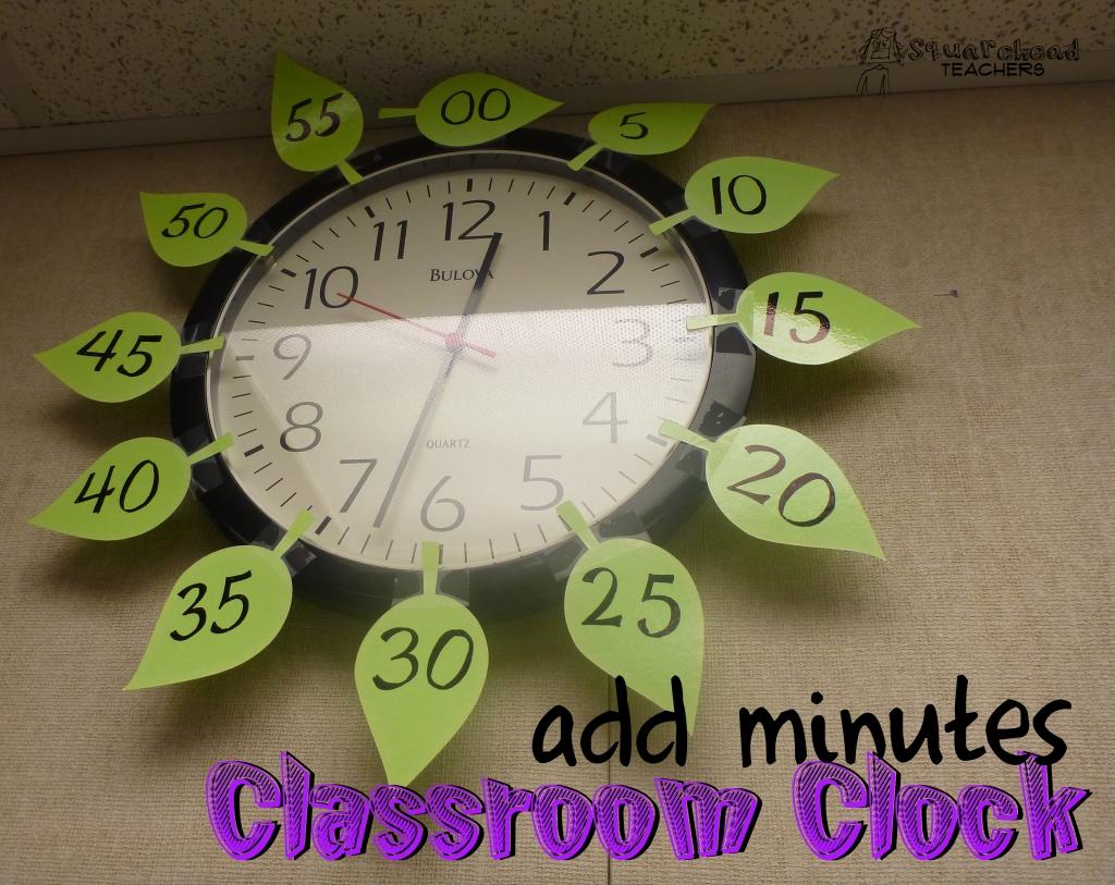 Kid-Friendly Classroom Clock | Squarehead Teachers