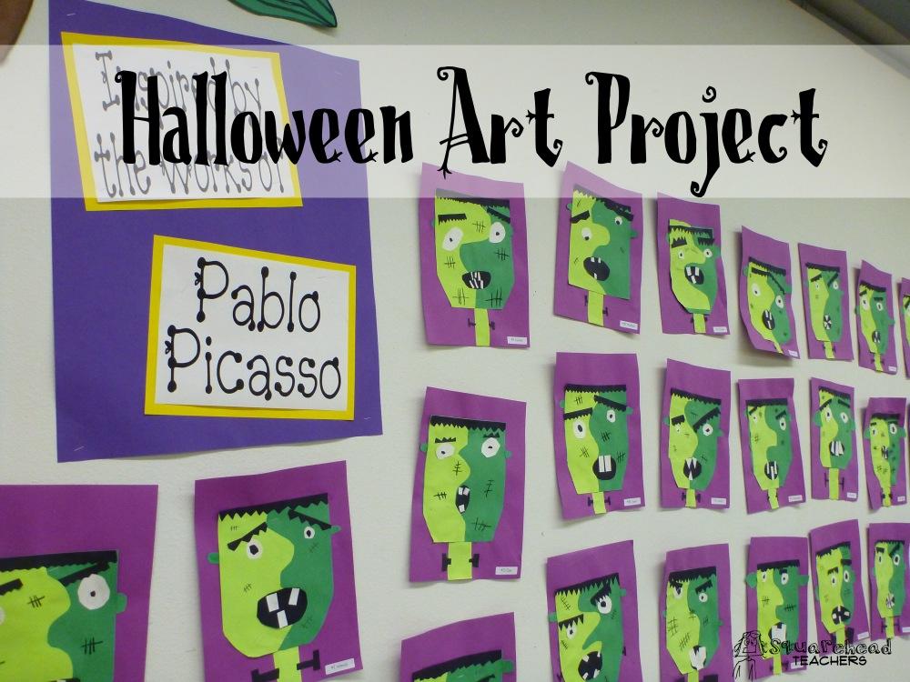 Halloween Art Project: Picasso's Frankenstein