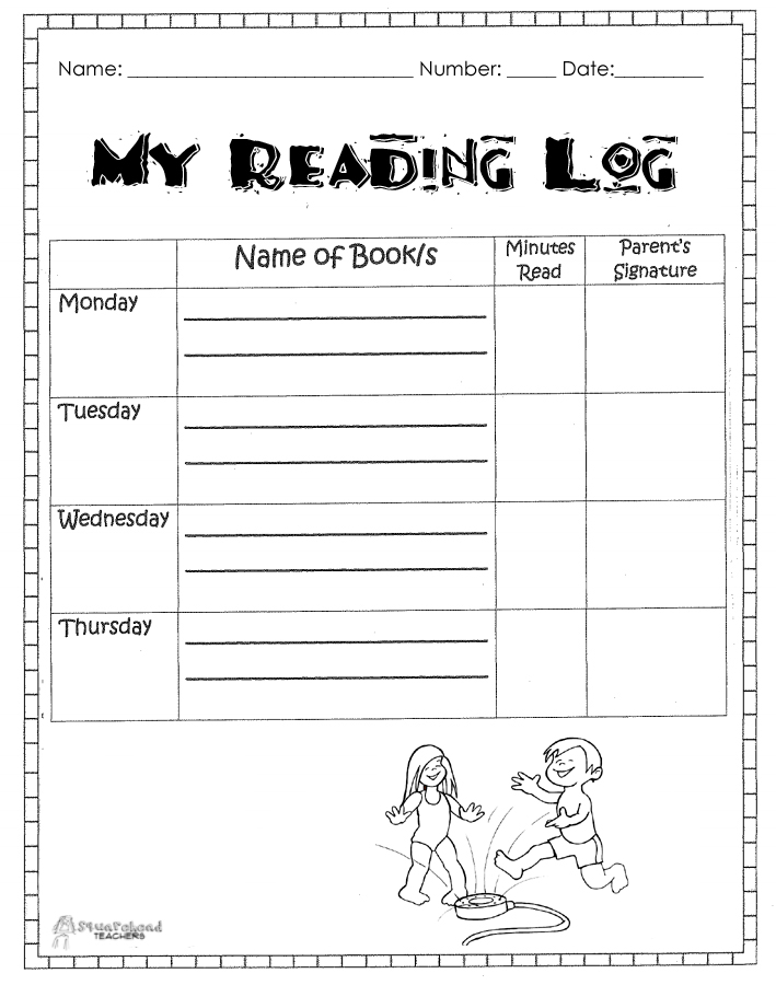 Search results for printable reading log for primary for Summer reading log template