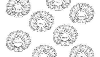 Turkeys Love Adjectives Free Parts Of Speech Worksheet