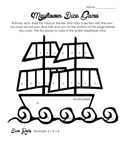 mayflower coloring pages for preschool - photo#32