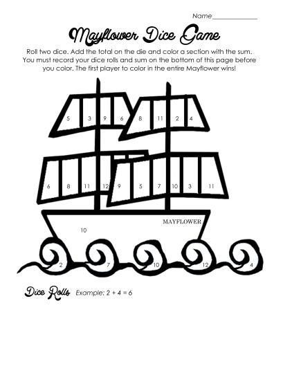 Mayflower Dice Game