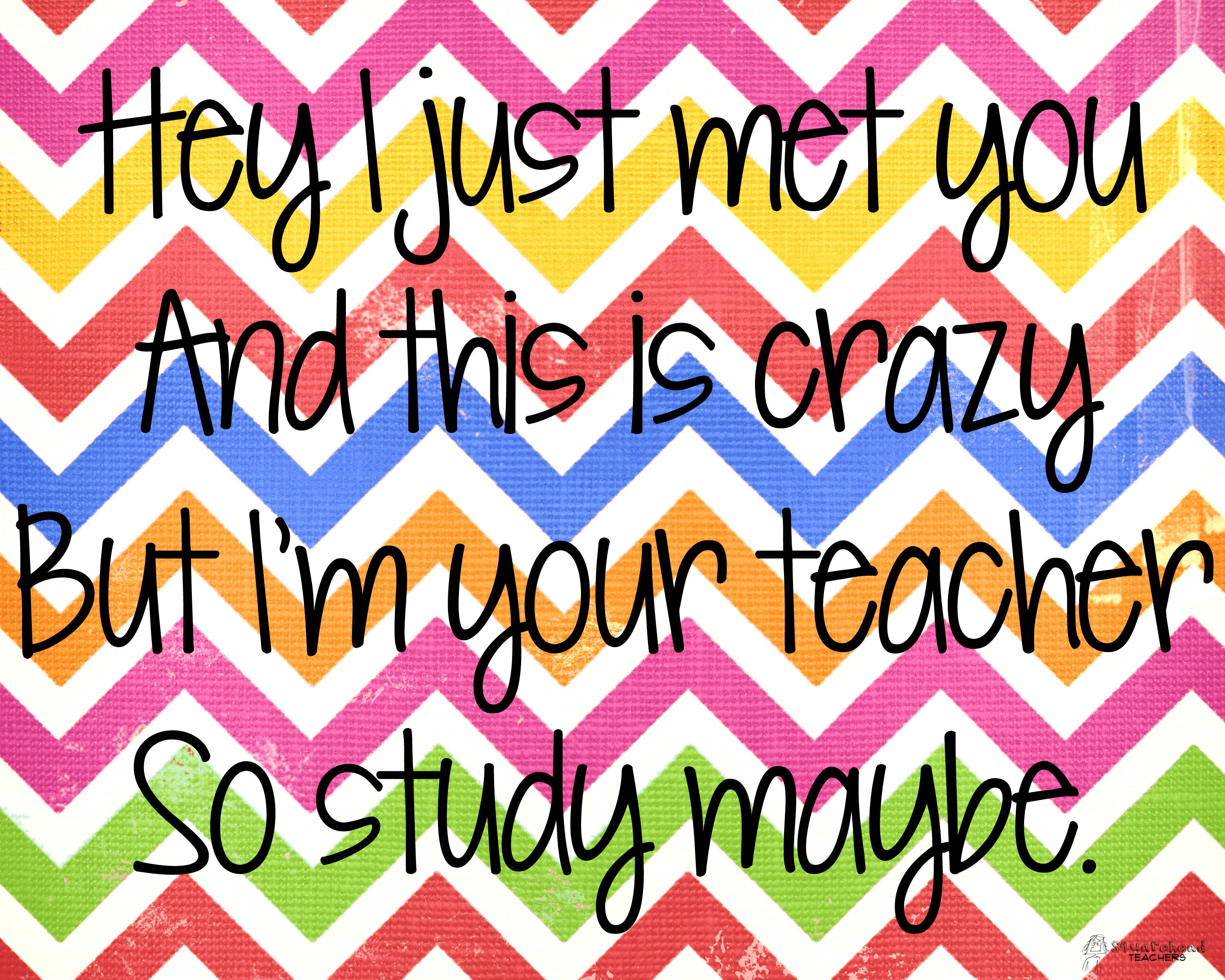 Snarky poster for your classroom updated squarehead teachers for Free printable funny posters
