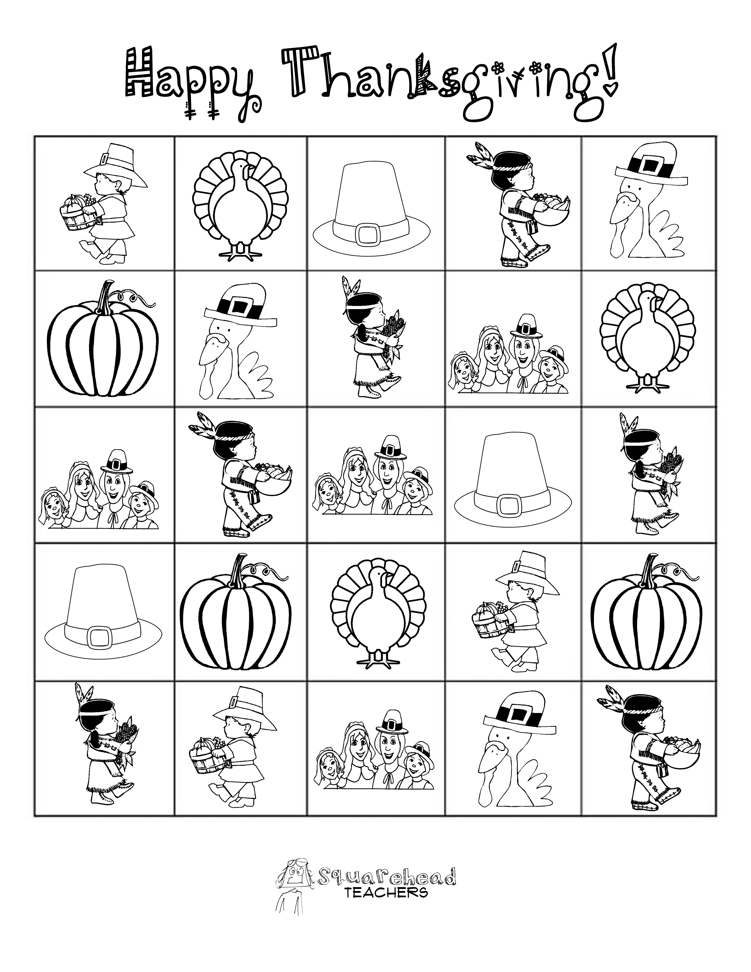 Thanksgiving esl activities adults Mat need