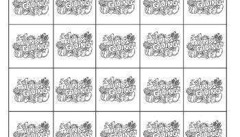 Thanksgiving Math Memory Game Free Printable