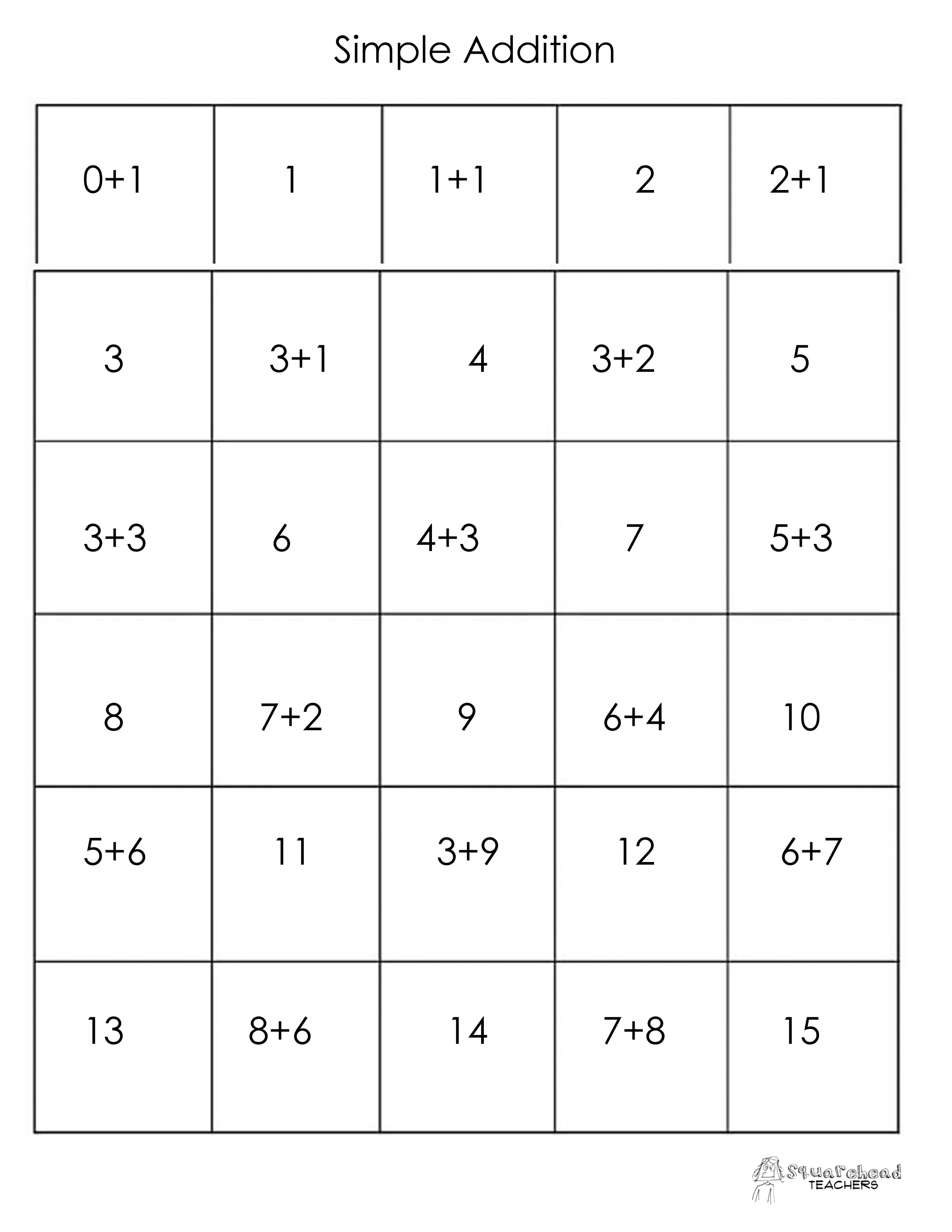 Free simple addition worksheets kindergarten 2898862 - aks-flight.info