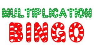 Holiday Multiplication Facts Bingo (free!)