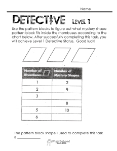 Number Pattern Detective- level 1
