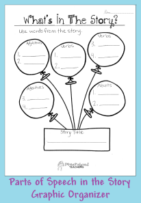 P.O.S. in the story graphic organizer STICKER