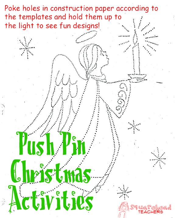 Push-Pin Christmas Activities : Squarehead Teachers