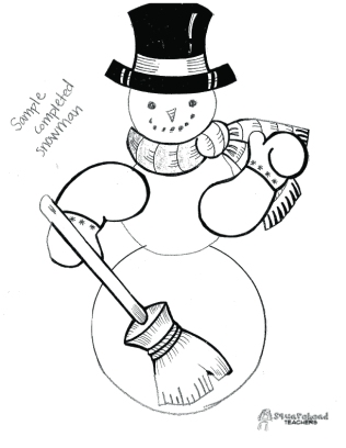 Snowman adjectives project- 4