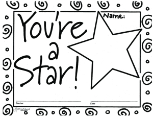You're A Star (free printable blank certificates