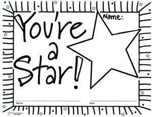 You're A Star (free printable blank certificates ...