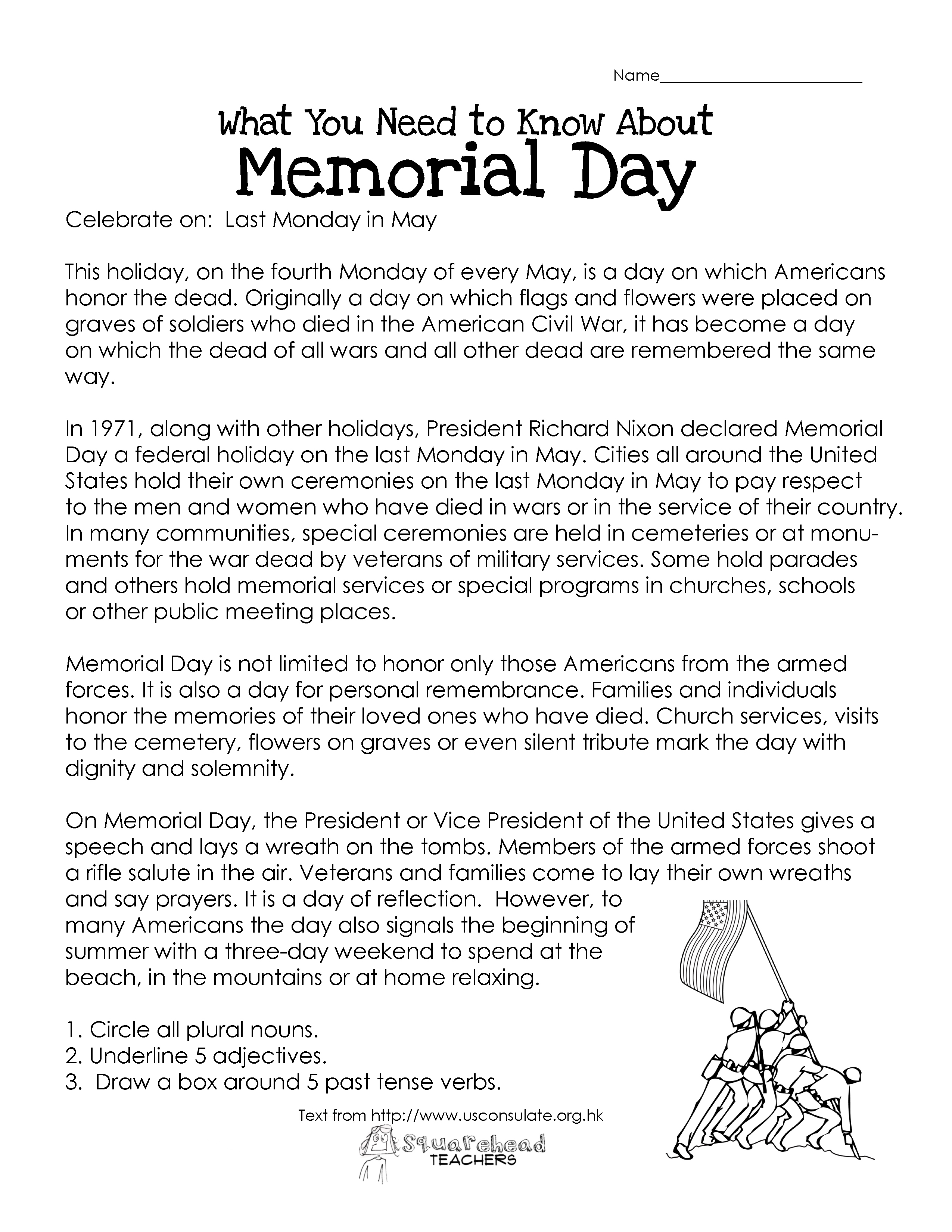 Superior Memorial Day (free Worksheet)