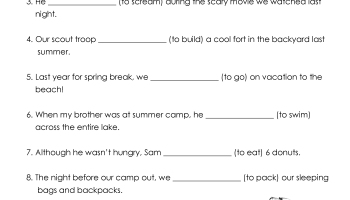 Past & Future Tense Verbs Printable | Squarehead Teachers