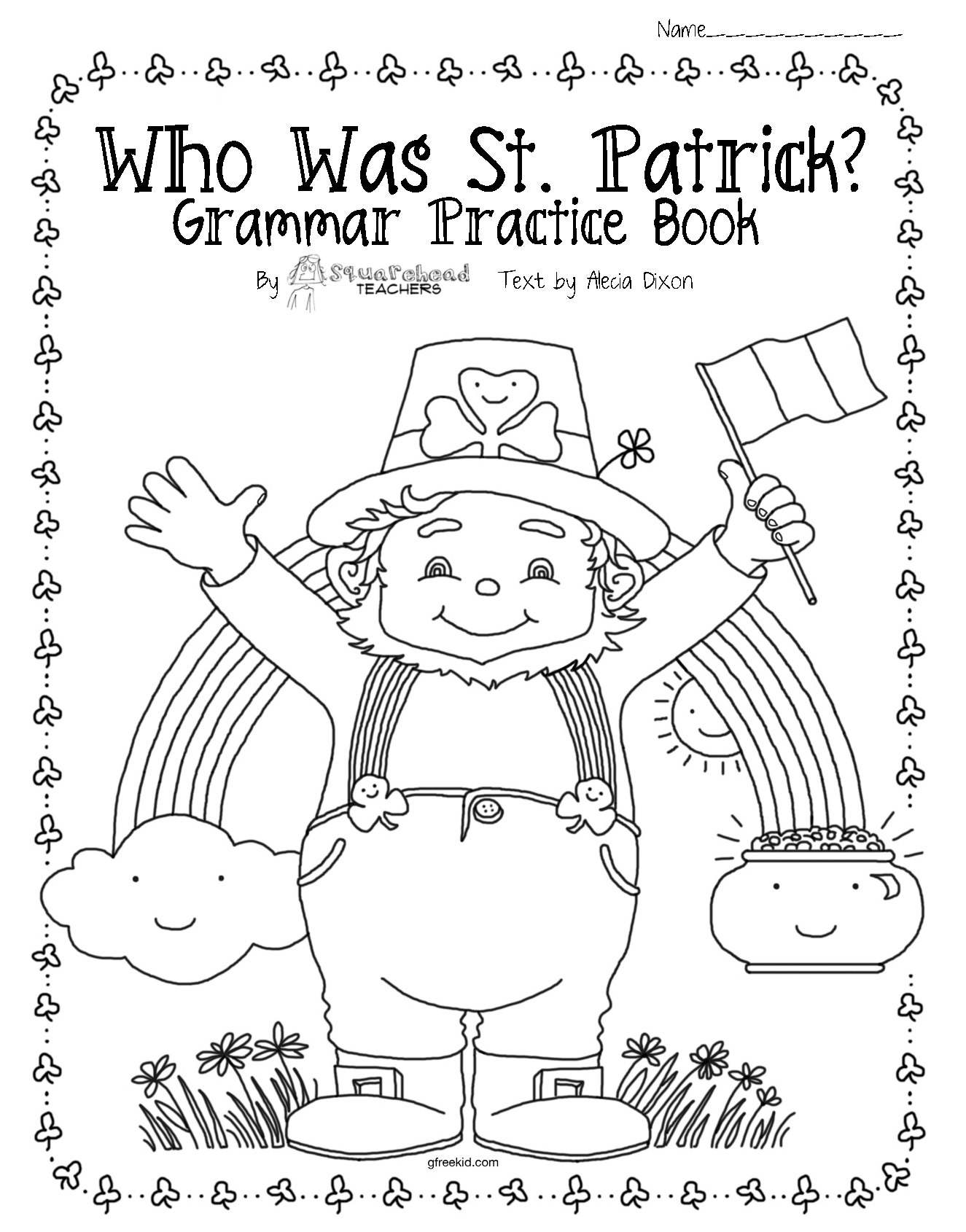 Who Was St Patrick upper grade grammar comprehension packet – St Patricks Day Worksheets