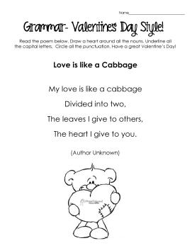 V-Day Grammar- poem 2