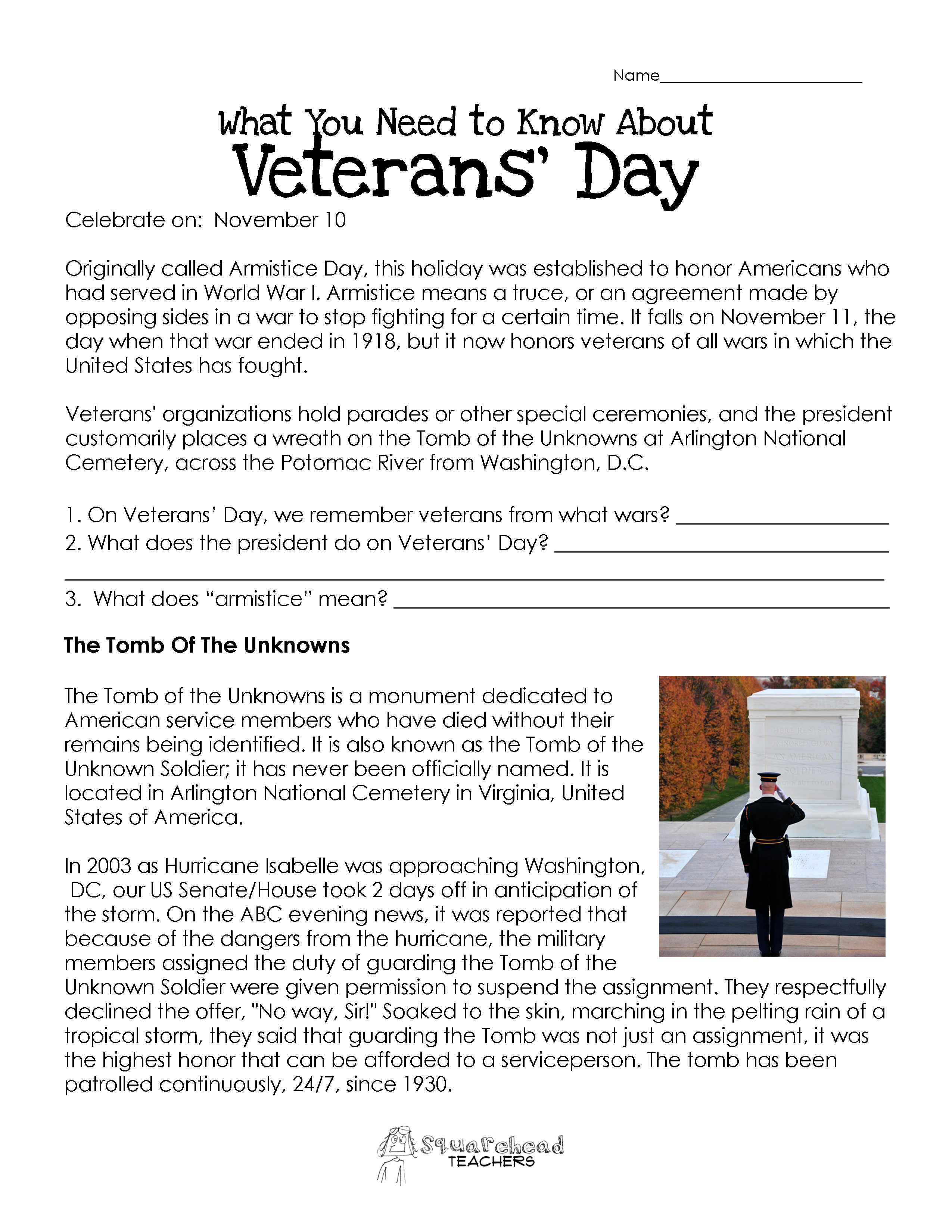 Printables Veterans Day Worksheets veterans day worksheet updated squarehead teachers