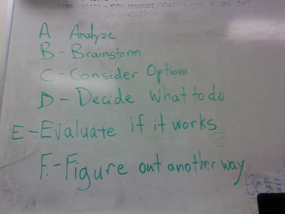 ABCs of Problem Solving