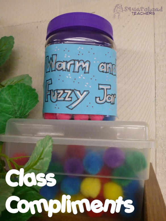class compliments- warm fuzzies Jar