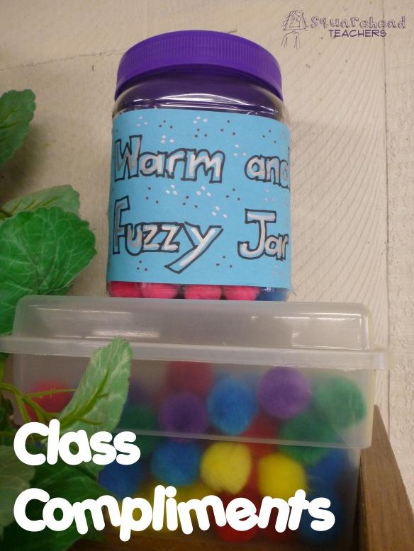 class compliments- warm fuzzies Jar