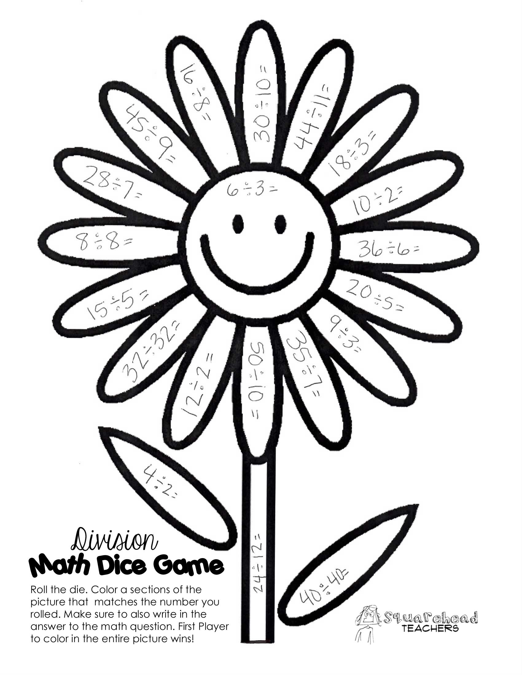 Division Coloring Worksheets For 3rd Grade: Get free rd grade math ...