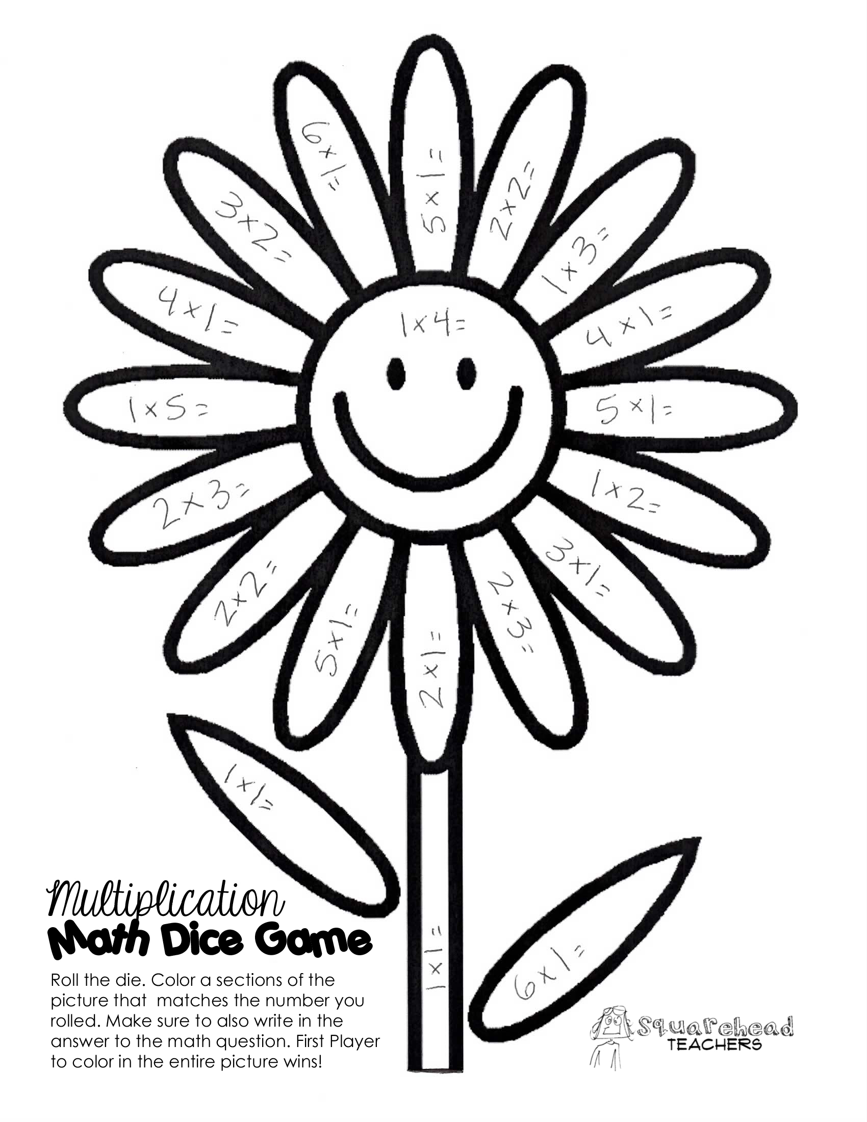 simple multiplication coloring pages - photo#30