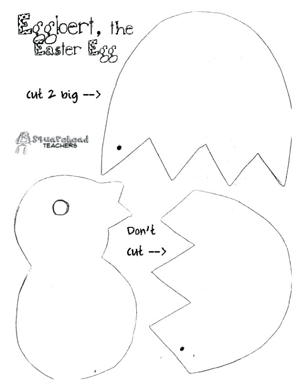 Eggbert the Easter egg cut out center2 copy