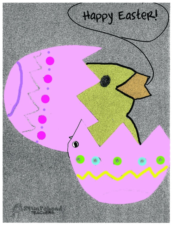Eggbert the Easter egg cut out center3 copy