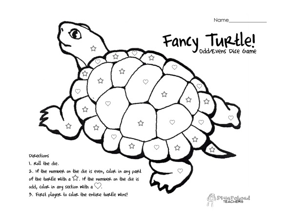 Fancy Turtle- odd even - single die