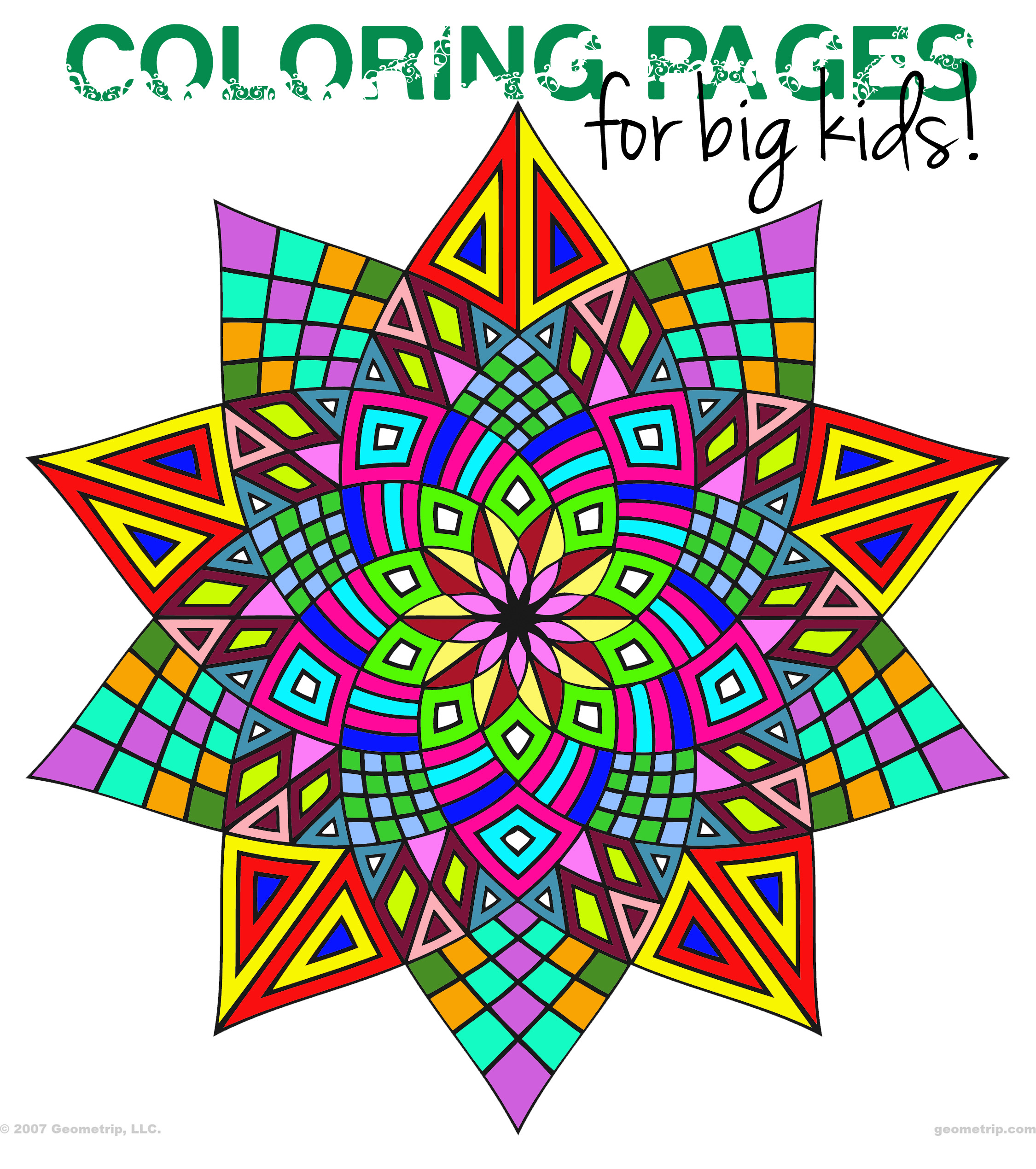 geometric coloring pages - Geometric Coloring Pages