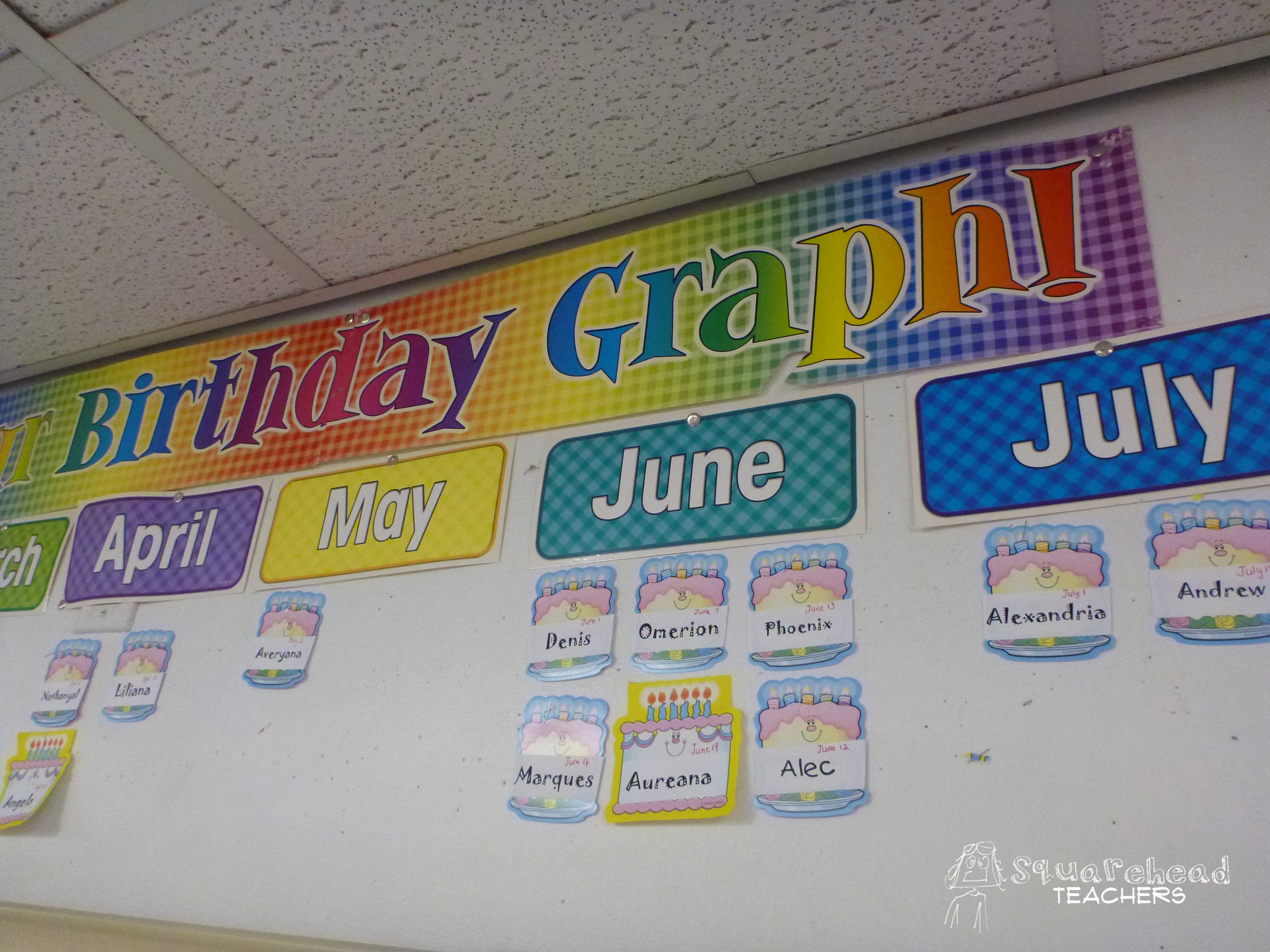 Elementary Classroom Ideas ~ Sneaking graphs into your classroom squarehead teachers