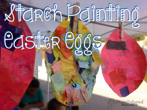 starch painting eggs 2