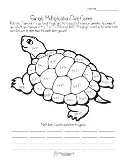 multiplication dice game- turtle