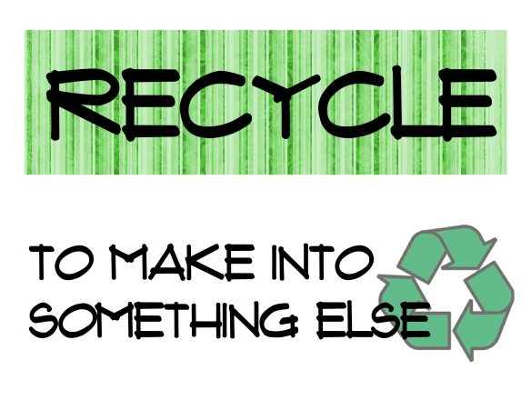 recycle- word strip 1
