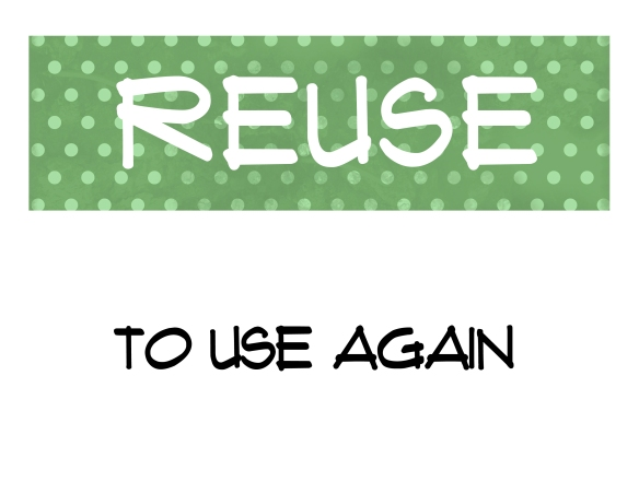 recycle- word strip 2