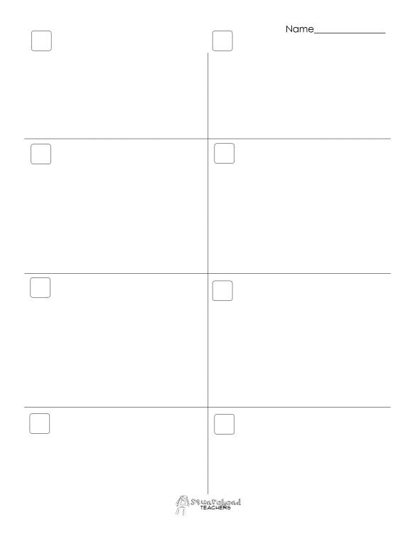 Roll a word blank sheet