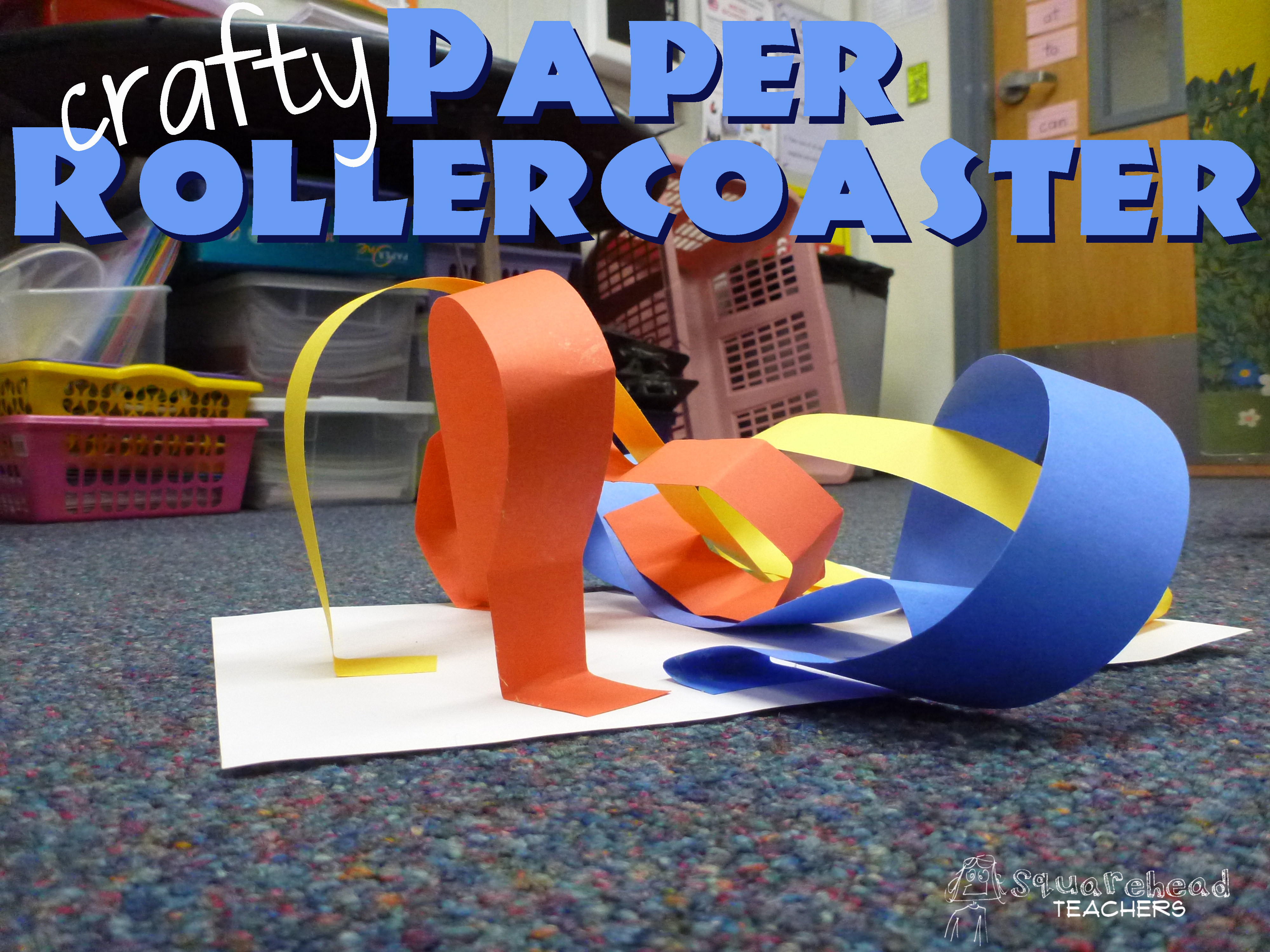 projects design unique coasters. rollercoaster Crafty Paper Roller Coaster  Squarehead Teachers