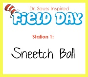 Station 1- sneetch ball