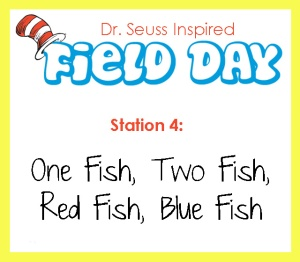 station 4- one fish two fish red fish blue fish