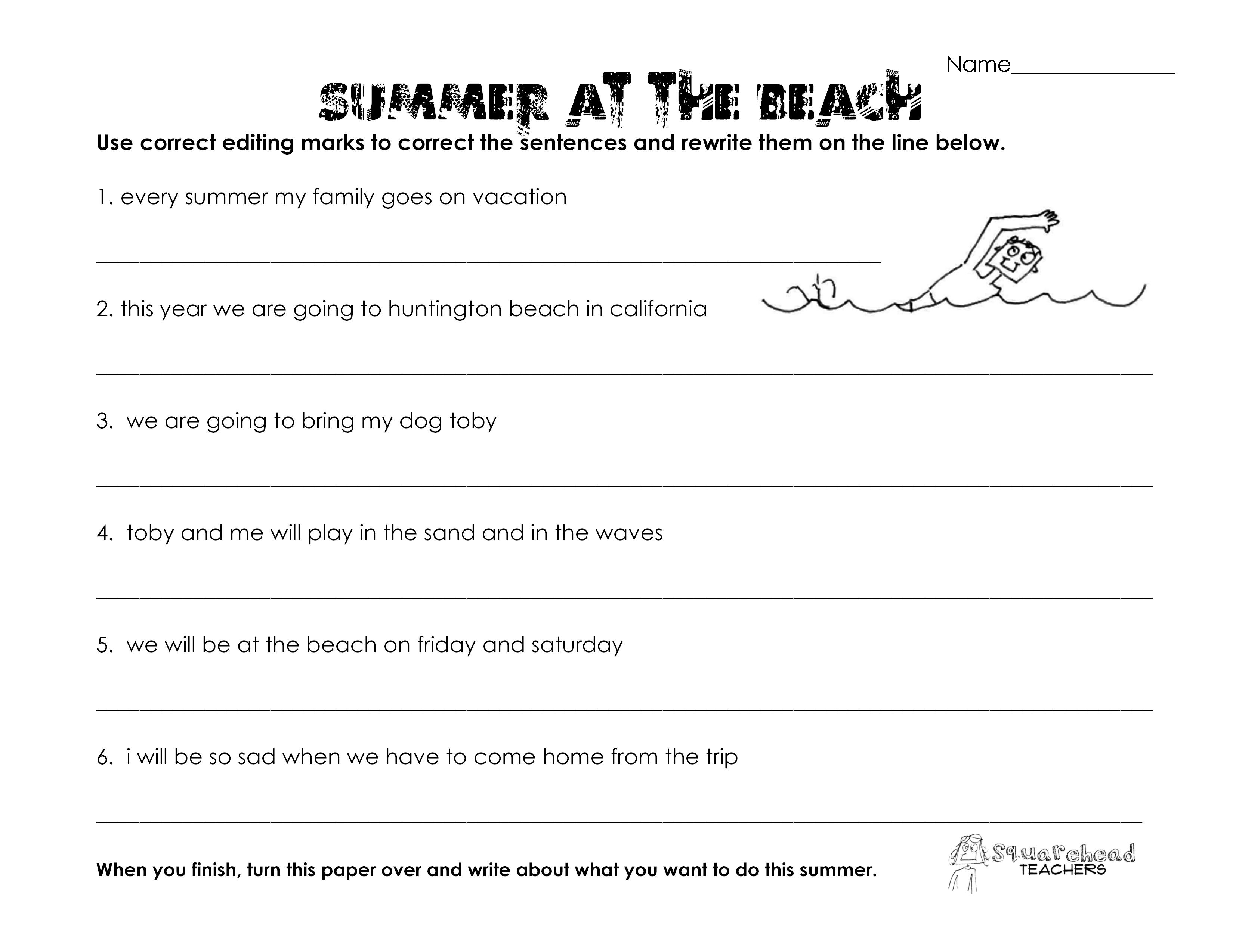 Worksheets Grammar Worksheets grammar worksheets 7th grade easy 6 teachers guide