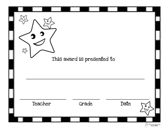 you u2019re a star  free printable blank certificates