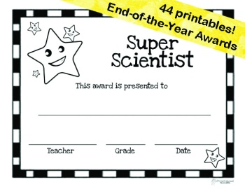 End Of The Year Awards 44 Printable Certificates Squarehead Teachers