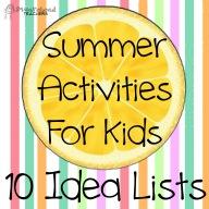 summer activities- idea lists