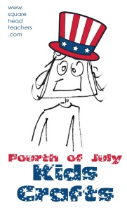 4th of July Kids Crafts sticker