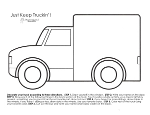 Just Keep Truckin' Bulletin Board Printable