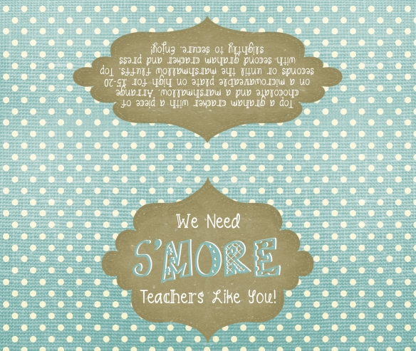 s'mores bag tag printable