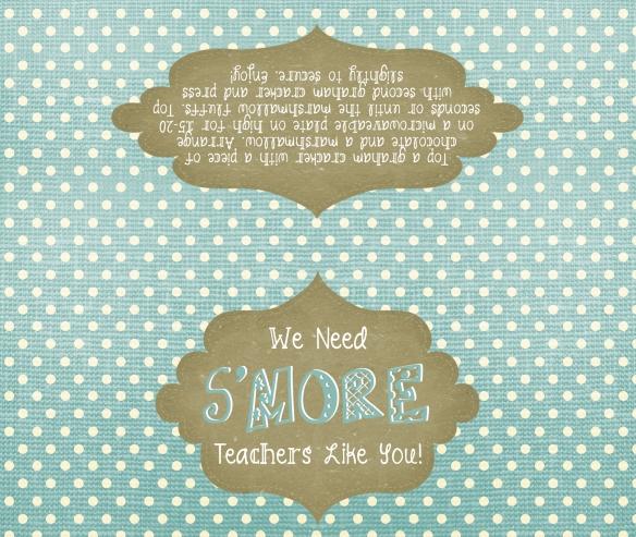 s'mores bag tag printable