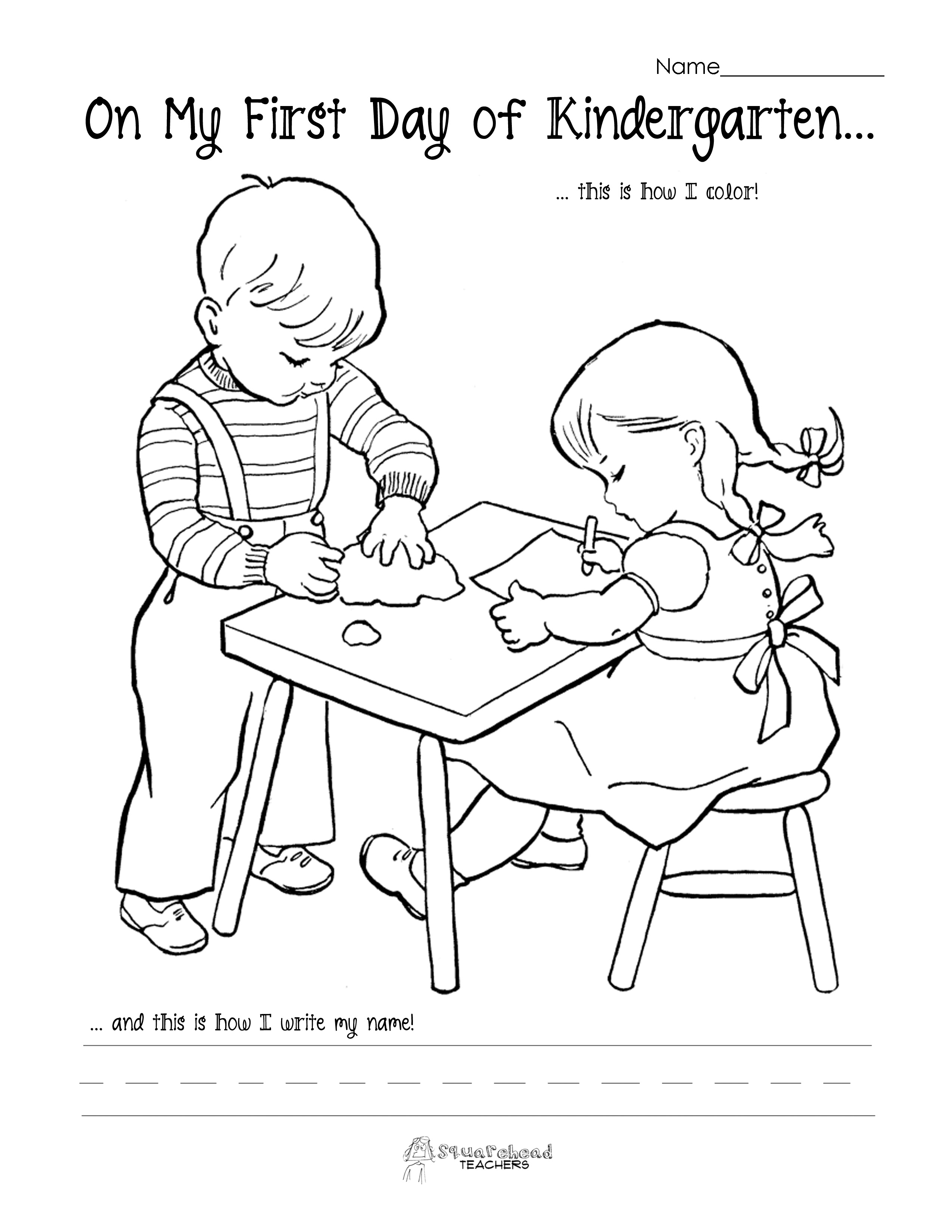 Free Coloring Pages Of School For Kindergarten School Coloring Pages For Kindergarten