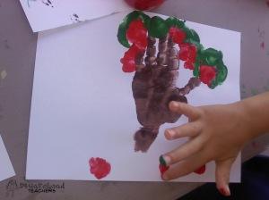 handprint apple tree 2